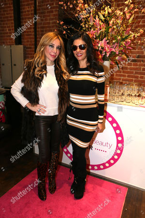 Marysol Patton and Adriana de Moura at The Panasonic Beauty Bar at Salon SCK during New York Fashion Week on in New York, NY
