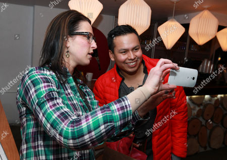 Jeremiah Bitsui is seen at PCL Day Lounge Day 3 on in Park City, Utah
