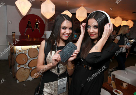 Shannon Baker and Shawna Baker are seen at PCL Day Lounge Day 3 on in Park City, Utah