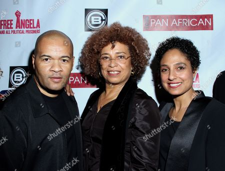 Codeblack CEO Jeff Clanagan, Jada Pinkett Smith, Angela Davis and filmmaker Shola Lynch attend Los Angeles Premiere of ???Free Angela and All Political Prisoners??? at Pan African Film Festival at Rave Cinemas Baldwin Hills on in Los Angeles, California