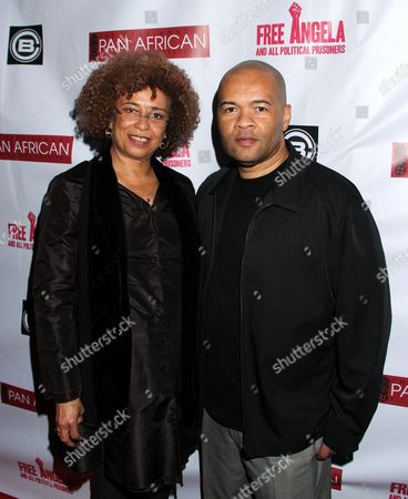 Angela Davis and Codeblack CEO Jeff Clanagan attend Los Angeles Premiere of ???Free Angela and All Political Prisoners??? at Pan African Film Festival at Rave Cinemas Baldwin Hills on in Los Angeles, California
