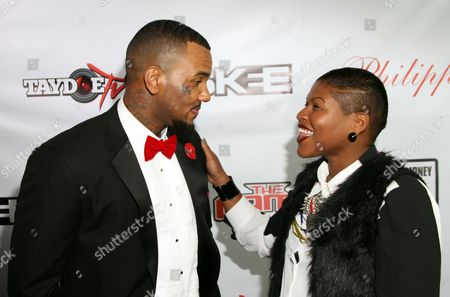 Jayceon Taylor aka The Game and Stacy Barthe attend the Private Black Friday Birthday Dinner for The Game at Philippe on in Beverly Hills, California