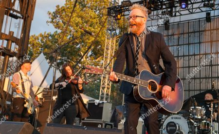 Nathen Maxwell, Bridget Regan and Dave King of Flogging Molly seen at Riot Fest & Carnival in Douglas Park on in Chicago