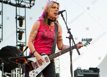 Stock Picture of Donita Sparks of L7 seen at Riot Fest & Carnival in Douglas Park on in Chicago