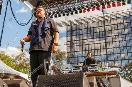 "David Jude Jolicoeur Dave and Vincent Mason ""Maseo"" of De La Soul seen at Riot Fest & Carnival in Douglas Park on in Chicago"