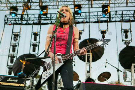 Donita Sparks of L7 seen at Riot Fest & Carnival in Douglas Park on in Chicago