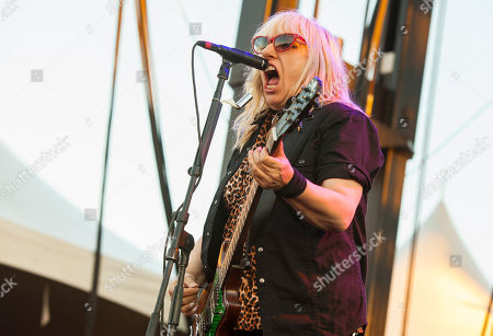 Suzi Gardner of L7 seen at Riot Fest & Carnival in Douglas Park on in Chicago
