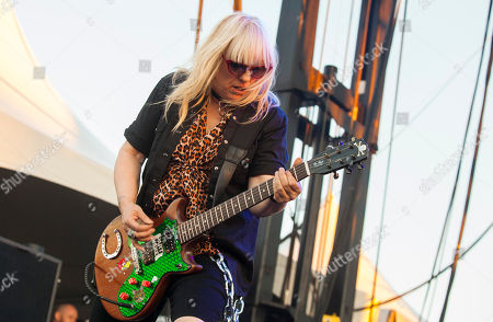 Stock Image of Suzi Gardner of L7 seen at Riot Fest & Carnival in Douglas Park on in Chicago