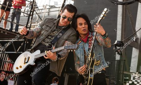 Keith Nelson and Stevie D. of Buckcherry perform at Rock on the Range on in Columbus, Ohio
