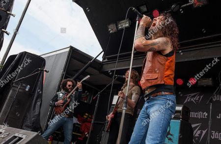Tom 'The Mole' Frank, Shaun Avants and Aryn Jonathan Black of Scorpion Child perform at Rock on the Range on in Columbus, Ohio