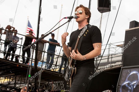 Shimon Moore of Sick Puppies performs at Rock on the Range on in Columbus, Ohio