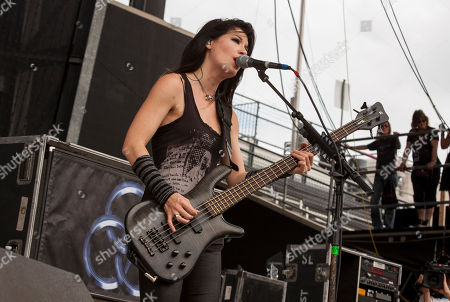 Emma Anzai of Sick Puppies performs at Rock on the Range on in Columbus, Ohio