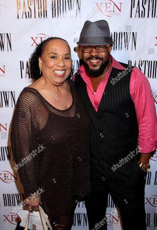 Roz Ryan and Rockmond Dunbar at Rockmond Dunbar's Directorial Debut Screening of Pastor Brown at Xen Lounge, in Studio City, California