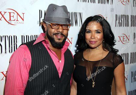 Rockmond Dunbar and Maya Gilbert at Rockmond Dunbar's Directorial Debut Screening of Pastor Brown at Xen Lounge, in Studio City, California