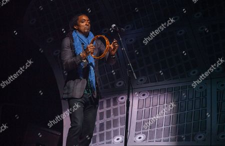 Bernard Fowler performs with the Rolling Stones at the United Center on in Chicago