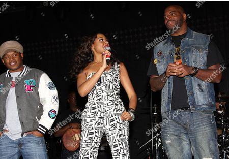 """Sway Calloway, Janell Snowden and Ed Lover host at Shannon Brown's Wood-Star Music Festival """"Soul in the City"""" on Saturday August, 19, 2012, at Union Park in Chicago, Illinois"""