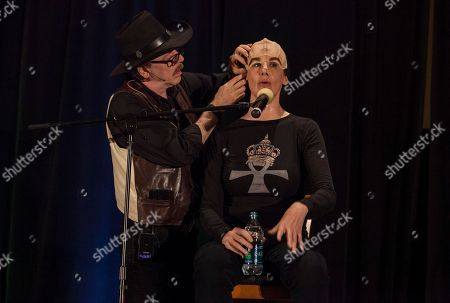 Make-up artist John Paladin and actor Suzie Plakson during the Creation Entertainment's Official Star Trek Convention at The Westin O'Hare, on in Rosemont, IL