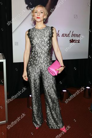 Tina Benko seen at the NYC Premiere of Starz's original limited series Flesh and Bone at the NYU Skirball Center for the Performing Arts, in NYC