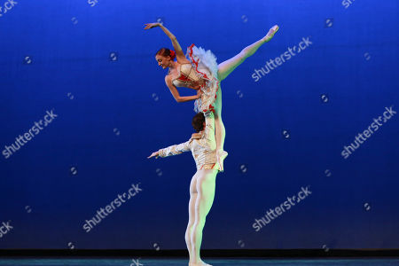 ABT principal dancers James Whiteside and Gillian Murphy perform at the NYC Premiere of Starz's original limited series Flesh and Bone at the NYU Skirball Center for the Performing Arts, in NYC