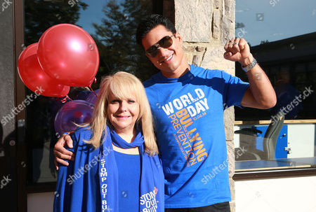 Mario Lopez along with Ross Ellis, STOMP OUT Bullying's founder and CEO, seen at the STOMP OUT Bullying Pep Rally with Mario Lopez, at Albert Leonard High School, on in New Rochelle, N.Y