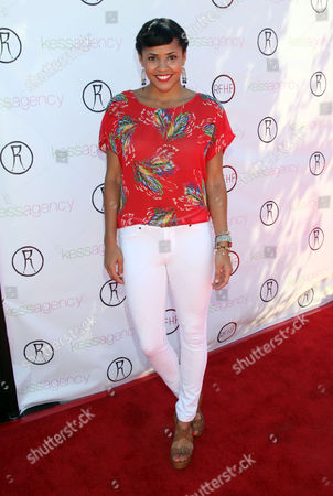 "Amaris Davidson arrives at Robi Reed's 10th Annual ""Sunshine Beyond Summer"" Celebration - The Day Party with a Purpose at the Getty House, in Los Angeles"