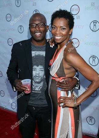 """TJ Gibson and Vanessa A. Williams arrive at Robi Reed's 10th Annual """"Sunshine Beyond Summer"""" Celebration - The Day Party with a Purpose at the Getty House, in Los Angeles"""