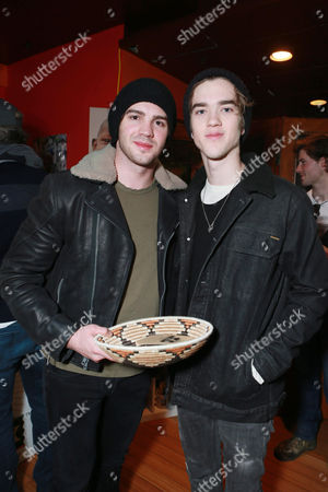 Steven R. McQueen and Jessarae Robitaille attend Talent Resources Suites,, in Park City, Utah