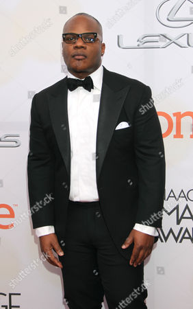 Sean Garrett arrives at the 46th NAACP Image Awards at the Pasadena Civic Auditorium, in Pasadena, Calif