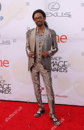 Wendell James arrives at the 46th NAACP Image Awards at the Pasadena Civic Auditorium, in Pasadena, Calif
