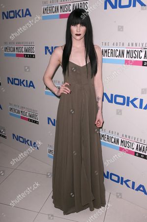 Audrey Napoleon arrives at The Electronic Dance Music Party at the American Music Awards, on in Los Angeles