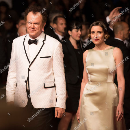 John C. Reilly and Angeliki Papoulia pose for photographers on the red carpet at the screening of the film The Lobster at the 68th international film festival, Cannes, southern France