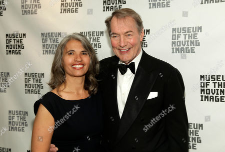 Stock Picture of Producer Yvette Vega, left, and television journalist Charlie Rose, right, attend the Museum of the Moving Image Annual Honors Benefit, in New York