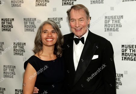 Stock Image of Producer Yvette Vega, left, and television journalist Charlie Rose, right, attend the Museum of the Moving Image Annual Honors Benefit, in New York