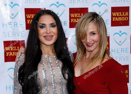 """Actors Saye Yabandeh and Sarah Farooqui arrive at a Special Performance of The Rainmaker Benefiting """"Here To Serve"""" on at Edgemar Center For The Performing Arts in Santa Monica, Calif"""