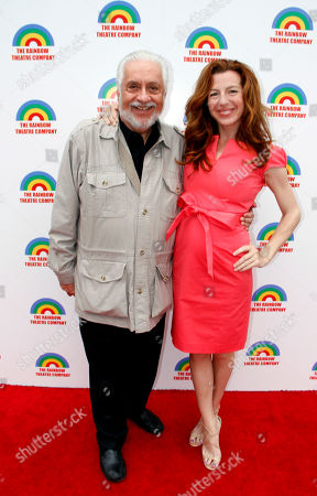 """Director Jack Heller and actress Tanna Frederick star of The Rainmaker arrives at a Special Performance Benefiting """"Here To Serve"""" on at Edgemar Center For The Performing Arts in Santa Monica, Calif"""
