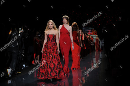 Editorial image of The Red Dress Collection 2014 - Runway, New York, USA