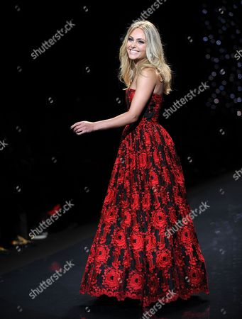 Anna Sophia Robb walks the runway at the The Red Dress Collection 2014 on in New York