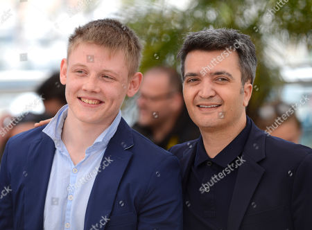 Maxim Emelianov and Thomas Langmann during a photo call for The Search at the 67th international film festival, Cannes, southern France