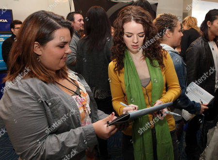 Stock Picture of Marlane Barnes signs autographs at the Time Warner Cable and Twilight Fan Breakfast on in Los Angeles