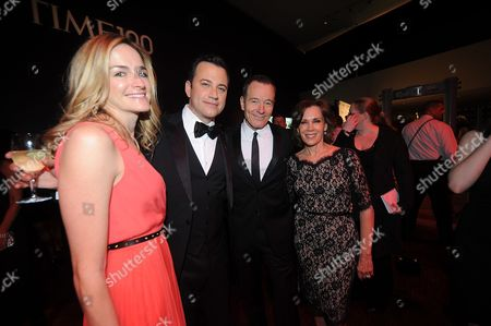 Gina Kimmel, Jimmy Kimmel, Lena Dunham, Bryan Cranston, and Robin Dearden attend the TIME's 100 Most Influential People in the World Gala on Tuesday, April, 23, 2013 in New York City, New York