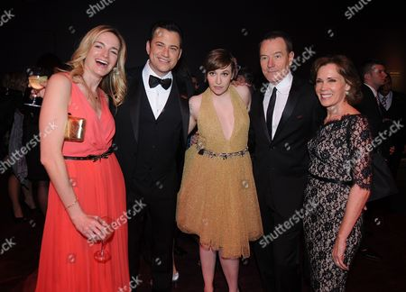 Stock Photo of Gina Kimmel, Jimmy Kimmel, Lena Dunham, Bryan Cranston, and Robin Dearden attend the TIME's 100 Most Influential People in the World Gala on Tuesday, April, 23, 2013 in New York City, New York