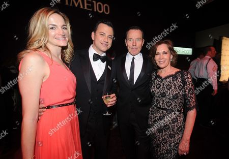 Stock Image of Gina Kimmel, Jimmy Kimmel, Lena Dunham, Bryan Cranston, and Robin Dearden attend the TIME's 100 Most Influential People in the World Gala on Tuesday, April, 23, 2013 in New York City, New York