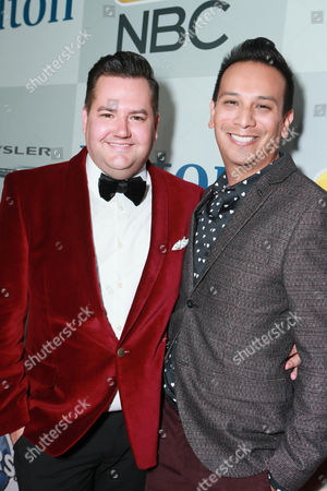 Ross Matthews and Salvador Camarena seen at the Universal, NBC, Focus Features, E! Entertainment Golden Globes After Party Sponsored by Chrysler and Hilton, in Beverly Hills
