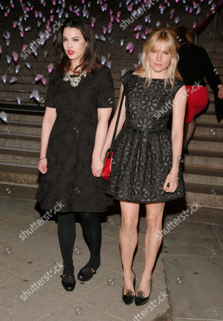 Actresses Matilda Sturridge, left, and Sienna Miller, right, attend the Vanity Fair Tribeca Film Festival Party,, in New York