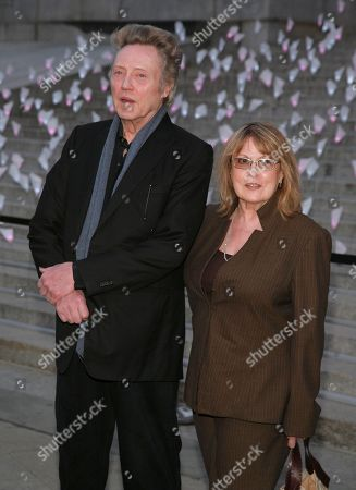 Stock Image of Actor Christopher Walken, left, and his wife, casting director Georgianne Walken, right, attend the Vanity Fair Tribeca Film Festival Party,, in New York