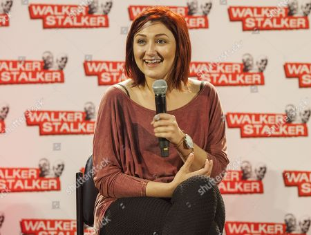 Anastasia Baranova appears at the Walker Stalker convention during the Z Nation panel, at the Donald E. Stephens Center in Rosemont, IL