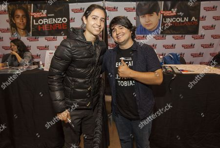 Stock Photo of Lorenzo Henrie and Lincoln Castellanos appear at the Walker Stalker convention, at the Donald E. Stephens Center in Rosemont, IL