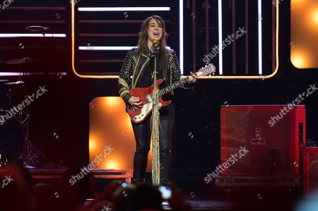Serena Ryder performs during We Day at the Air Canada Centre, in Toronto, Canada