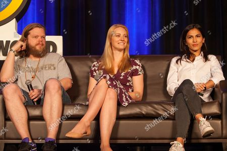 Elden Henson, Deborah Ann Woll and Élodie Yung during Wizard World Chicago Comic-Con at the Donald E. Stephens Convention Center, in Chicago