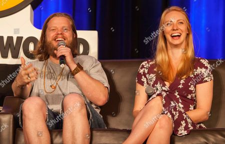 Elden Henson and Deborah Ann Woll during Wizard World Chicago Comic-Con at the Donald E. Stephens Convention Center, in Chicago